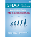 Bulletin d'information SFDO n°16 - Avril 2015
